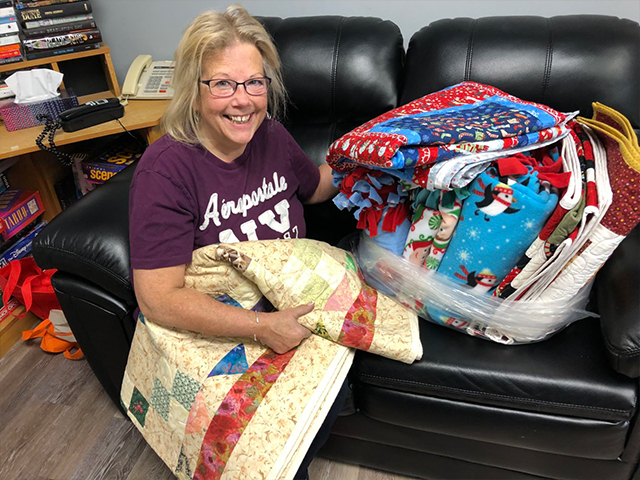 Denise-and-blankets-